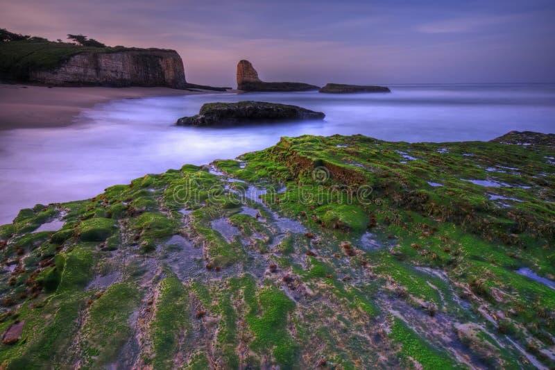 Sonnenaufgang auf dem vier Meilen-Strand lizenzfreie stockfotografie