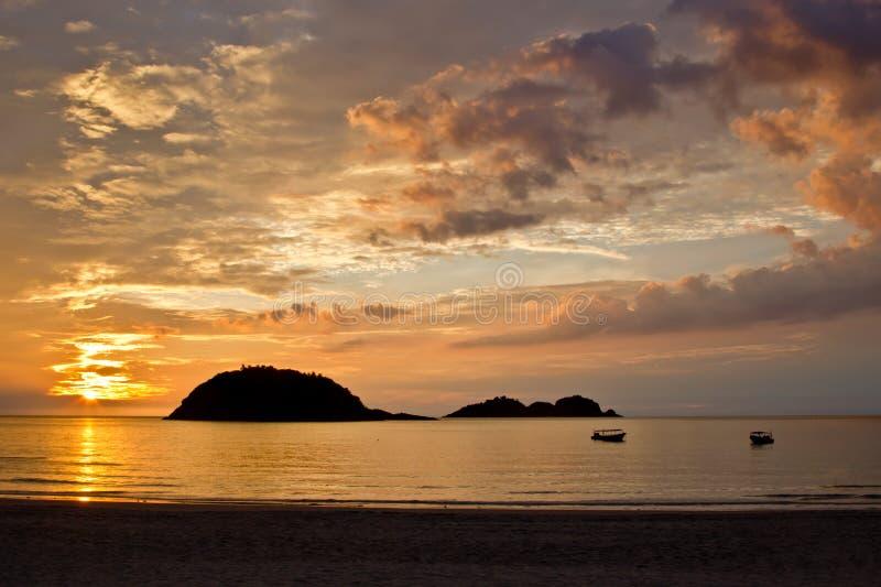 Sonnenaufgang auf der Insel von Redang stockfoto