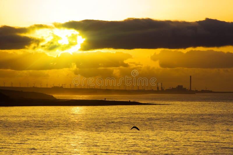 Sonnenaufgang auf Kanarischer Insel stockfoto