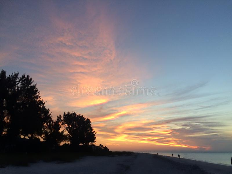 Sonnenaufgang auf Sanibel lizenzfreies stockfoto