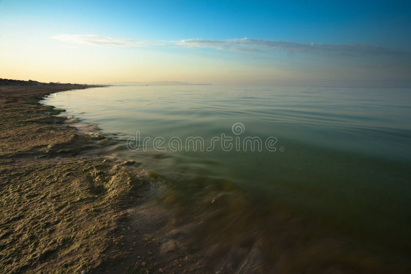 Sonnenaufgang auf Schwarzem Meer stockfotografie