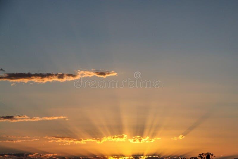 Sonnenaufgang in Australien lizenzfreie stockfotografie