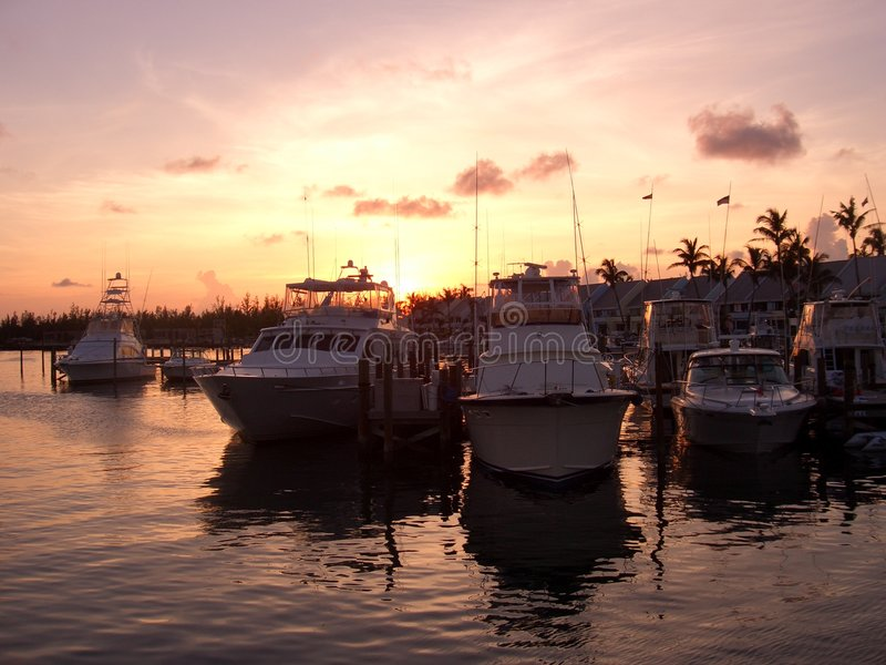 Sonnenaufgang Bahamas stockfoto