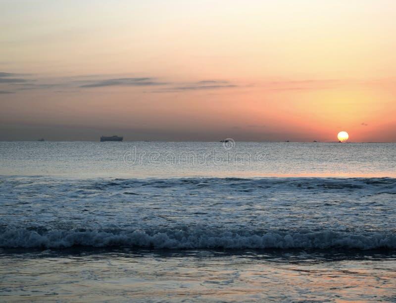 Sonnenaufgang begrüßt stockfoto