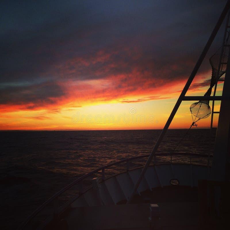 Sonnenaufgang bei der Arbeit stockfotos