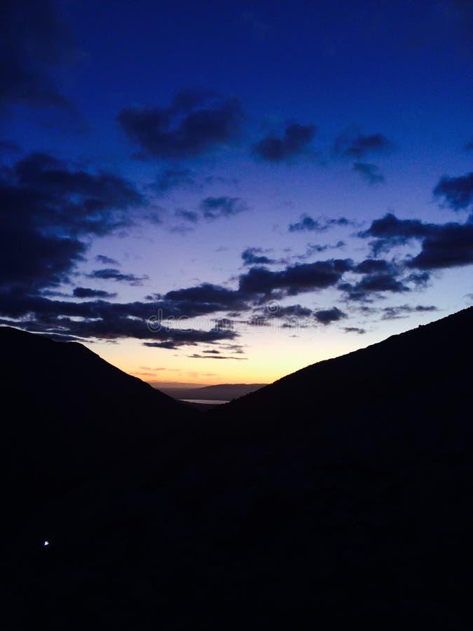 Sonnenaufgang bei Las Torres - Patagonia stockfoto
