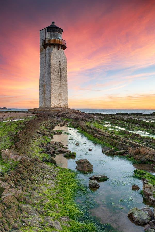 Sonnenaufgang bei Southerness in Schottland lizenzfreies stockfoto