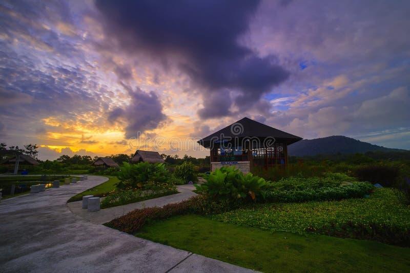 Sonnenaufgang Bintan-Insel Wonderfull Indonesien lizenzfreie stockfotos