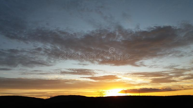 Sonnenaufgang in Brasilien MG lizenzfreies stockbild