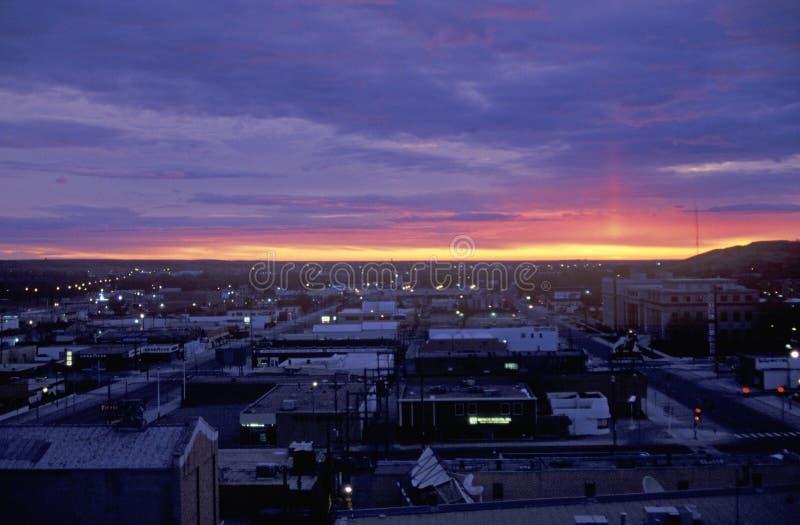 Sonnenaufgang, Cedar Rapids, South Dakota lizenzfreies stockfoto
