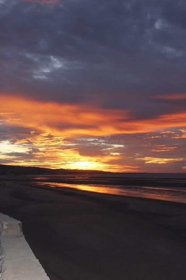 Sonnenaufgang in De Santa Clara, Sonora, Mexiko EL-Golfo stockbild