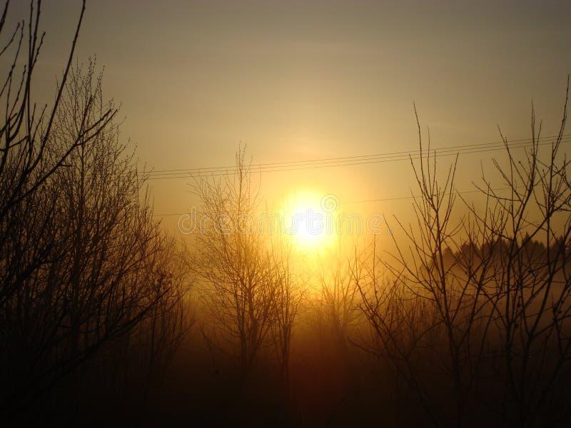 Sonnenaufgang in der Landschaft lizenzfreies stockbild