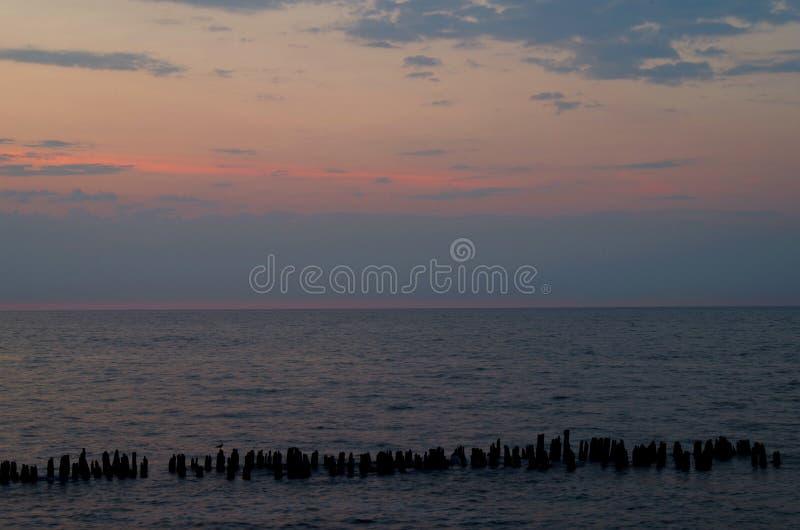 Sonnenaufgang in der Ostsee lizenzfreies stockfoto