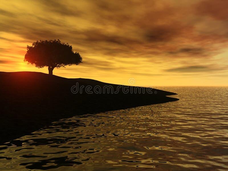 Sonnenaufgang durch den Ozean lizenzfreie stockfotografie