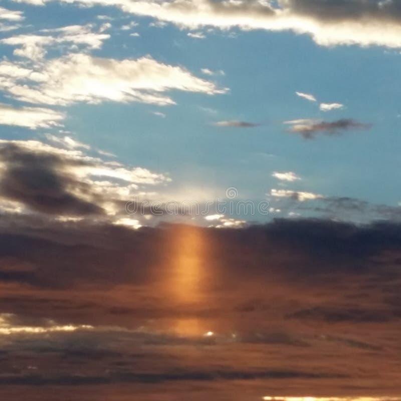 Sonnenaufgang in Fairfax Virginia lizenzfreie stockbilder