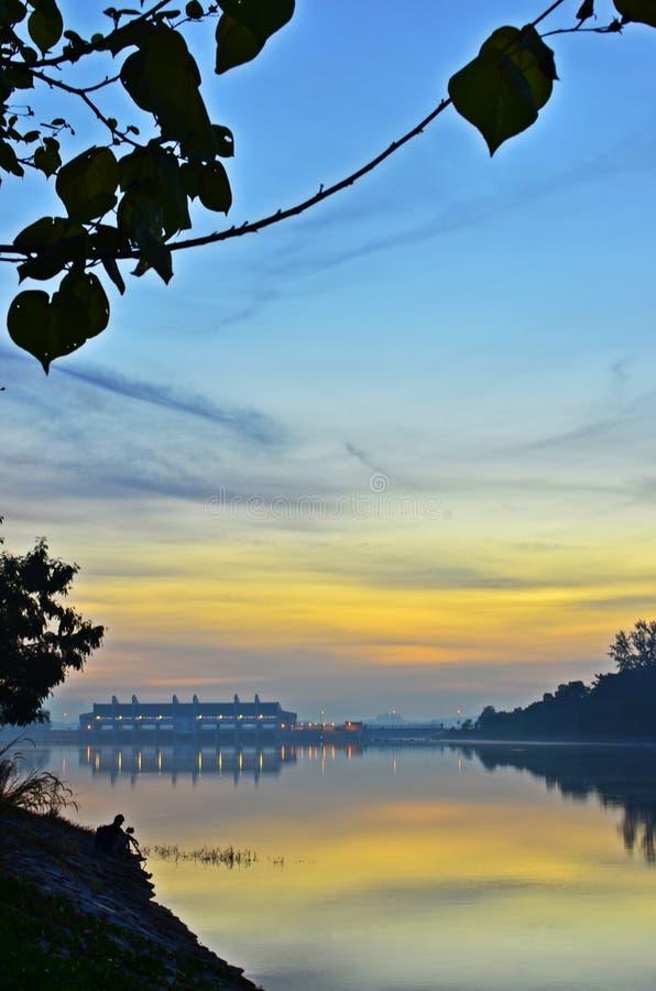 Sonnenaufgang-Fotograf stockbilder