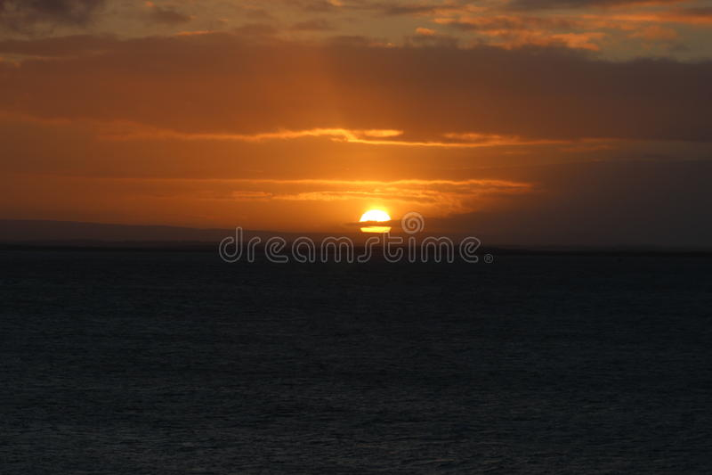 Sonnenaufgang in Galway, Irland lizenzfreies stockfoto