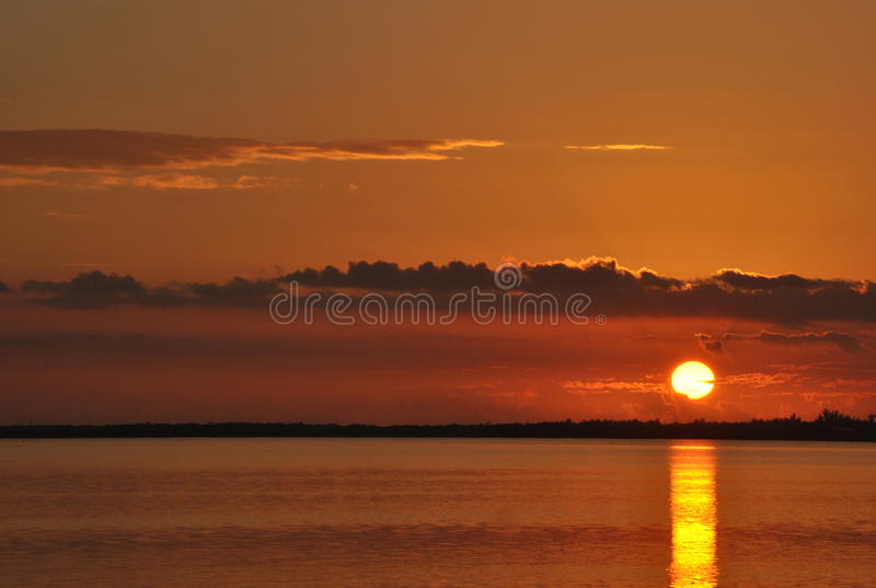 Sonnenaufgang in Georgia lizenzfreie stockbilder