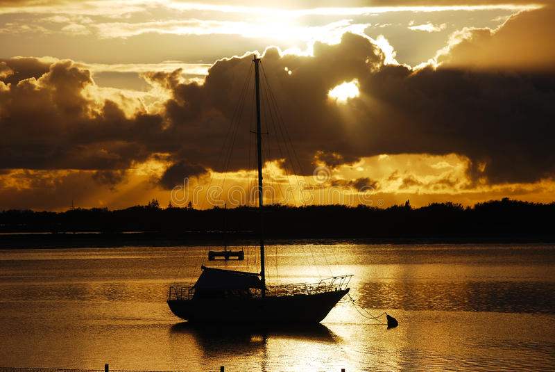 Sonnenaufgang Gold Coast Australien stockfotografie