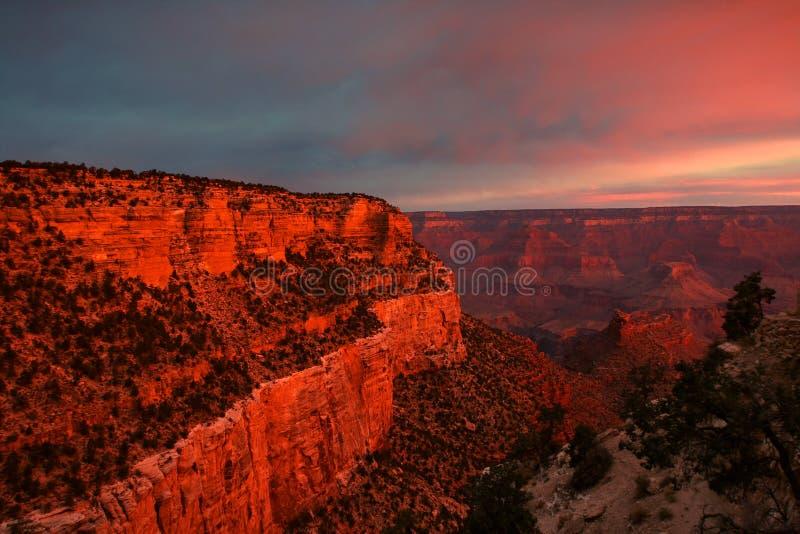 Sonnenaufgang am Grand Canyon stockbilder
