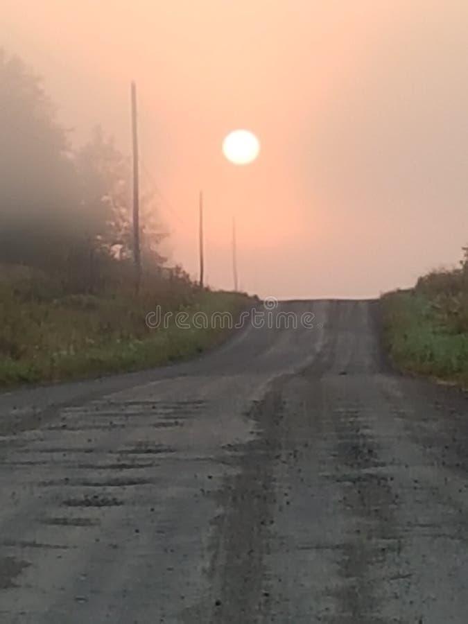 Sonnenaufgang herauf Norden stockfoto