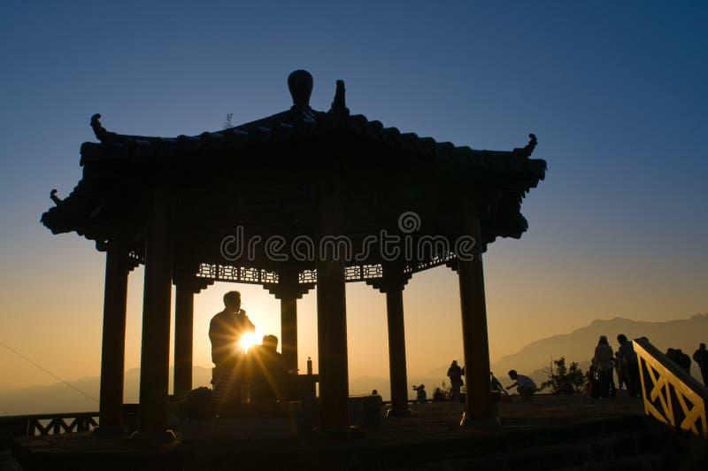 Sonnenaufgang im Berg Ali stockfotografie