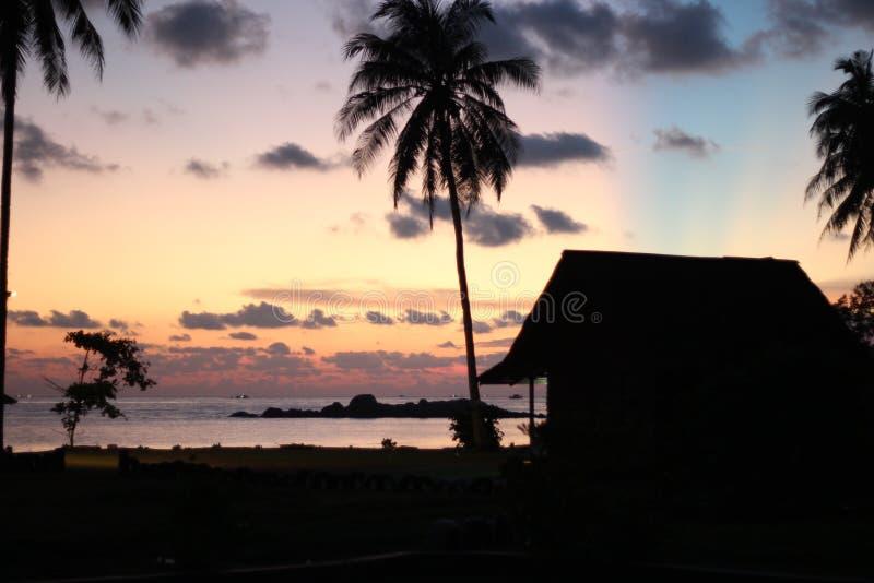 Sonnenaufgang in Indonesien stockfotografie