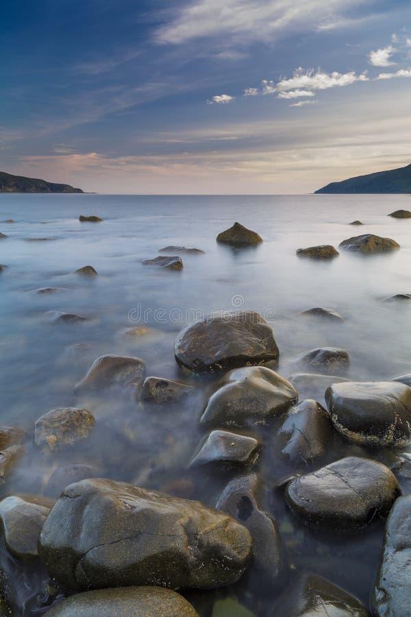 Sonnenaufgang, Insel von verrühren, Schottland lizenzfreies stockbild