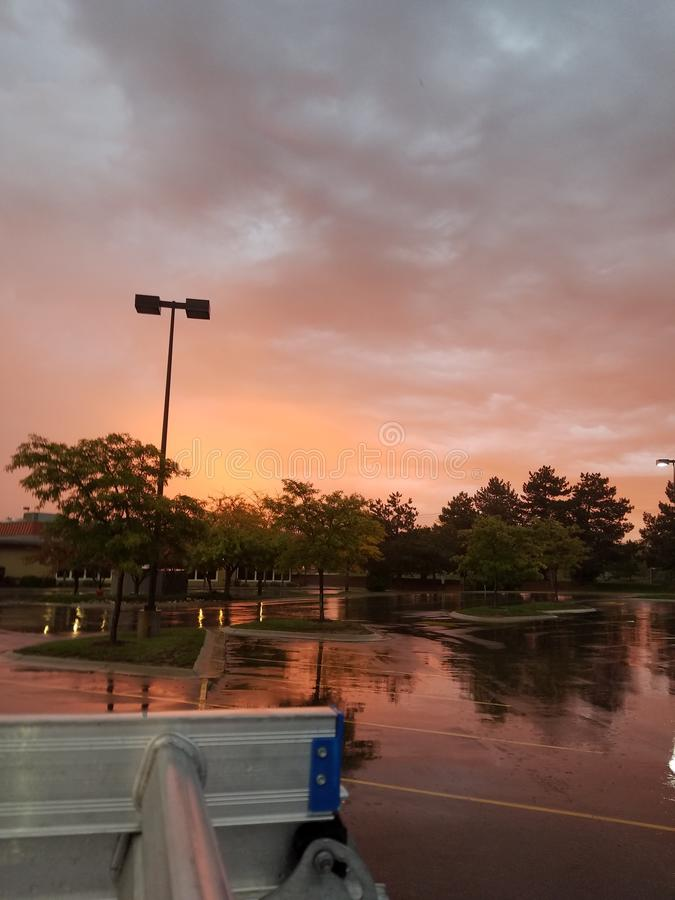 Sonnenaufgang in Iowa stockbild