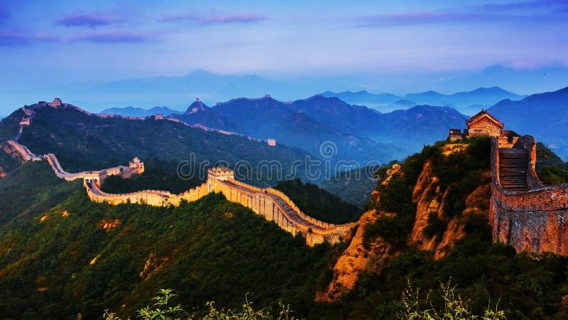 Sonnenaufgang-jinshanling Chinesische Mauer stockfoto