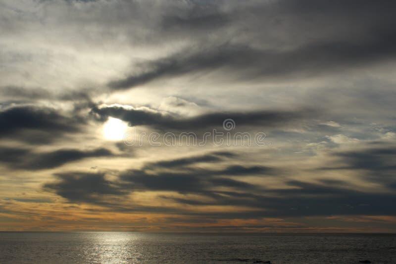 Sonnenaufgang in Korsika stockfotos