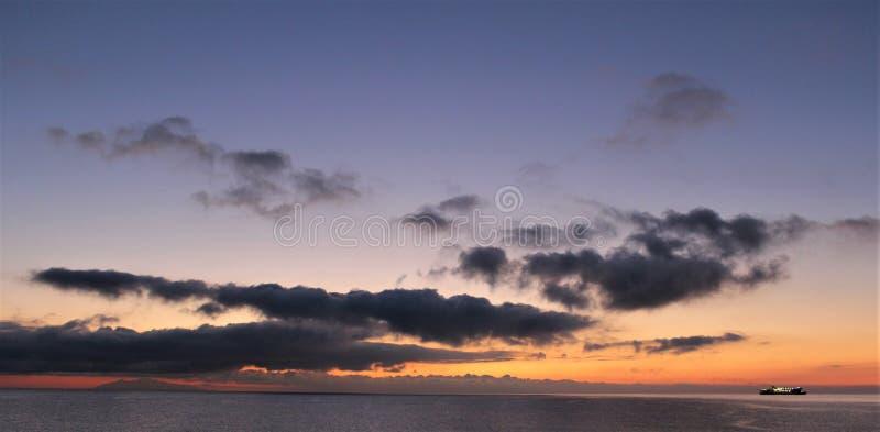 Sonnenaufgang in Korsika stockfoto