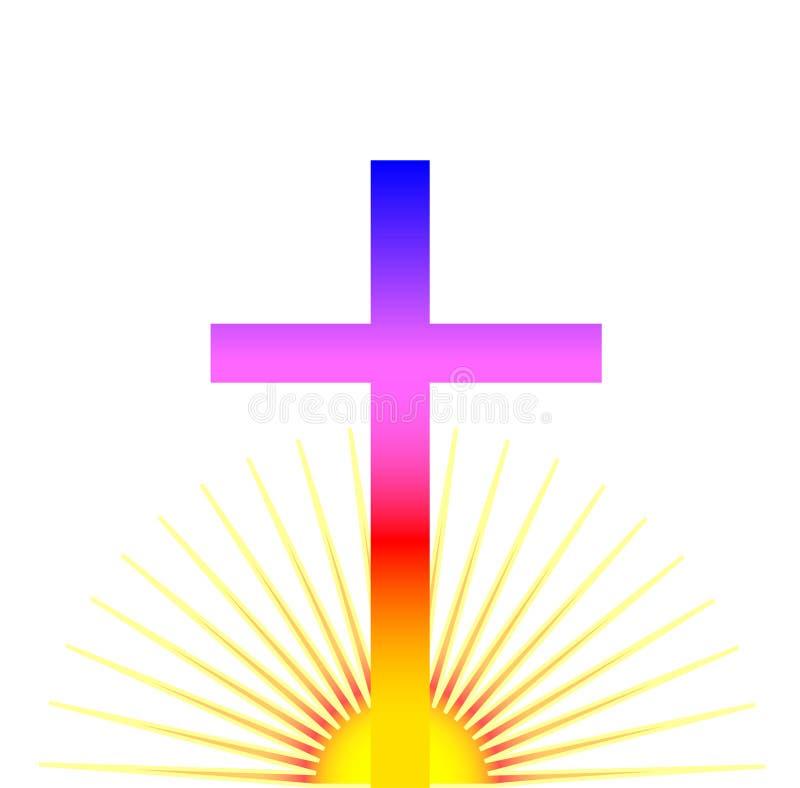 Sonnenaufgang-Kreuz stock abbildung