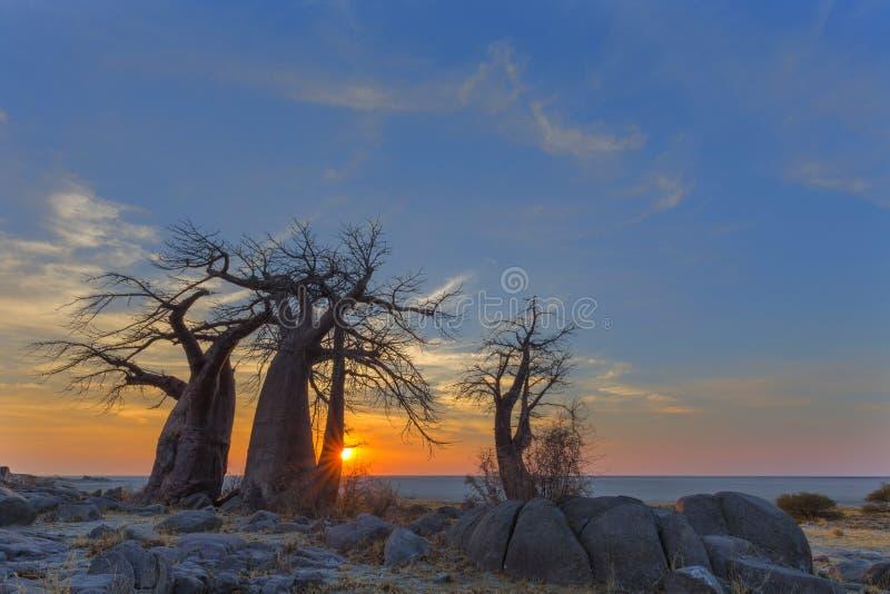 Sonnenaufgang in Kubu-Insel lizenzfreie stockfotografie
