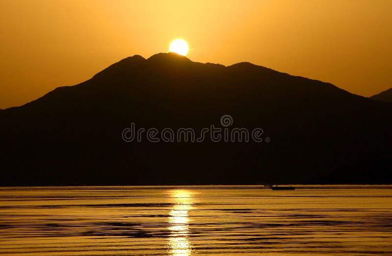 Sonnenaufgang in Marmaris stockbild