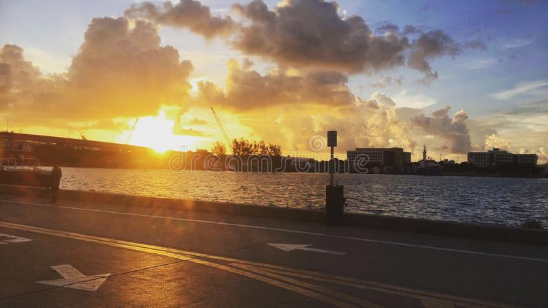Sonnenaufgang in Miami stockbild