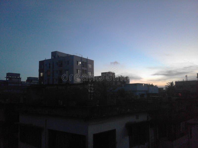 Sonnenaufgang mit coulour lizenzfreie stockfotografie