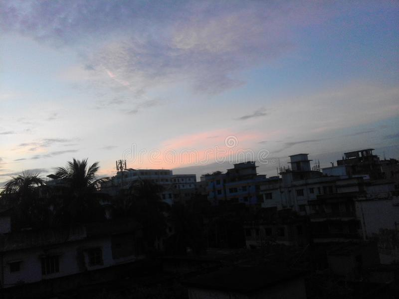 Sonnenaufgang mit coulour lizenzfreies stockfoto