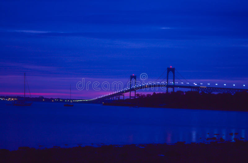 Sonnenaufgang in Newport, Rhode Island stockbild