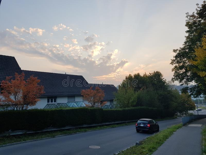 Sonnenaufgang am Paradies stockfotografie