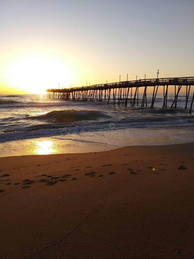 Sonnenaufgang-Pier stockbilder