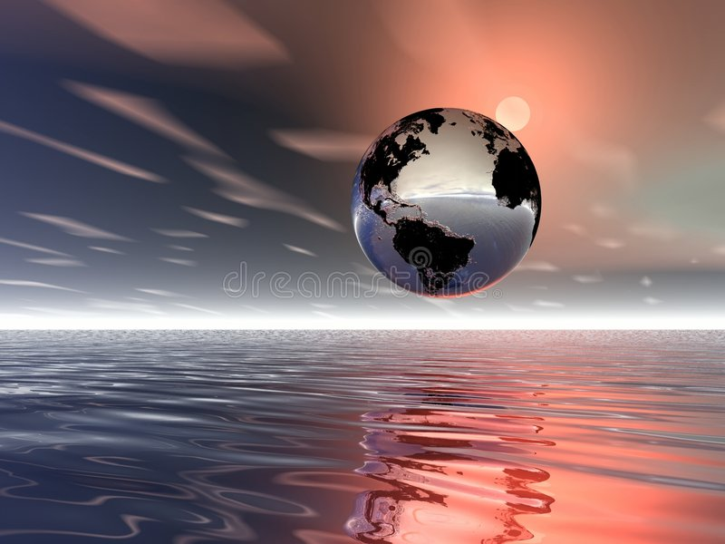 Sonnenaufgang. Planeten-Erde lizenzfreie abbildung