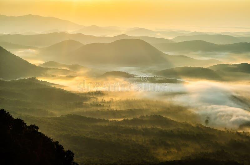 Sonnenaufgang, South Carolina, Appalachen lizenzfreie stockfotos
