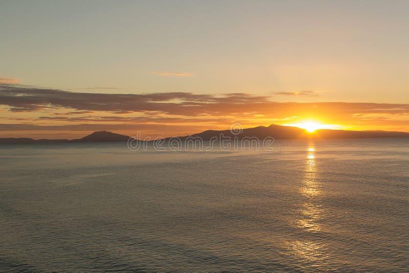 Sonnenaufgang Tasmanien lizenzfreies stockfoto