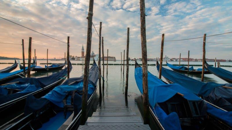 Sonnenaufgang in Venedig lizenzfreie stockbilder
