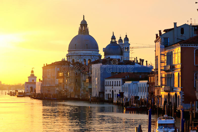 Sonnenaufgang in Venedig lizenzfreies stockbild