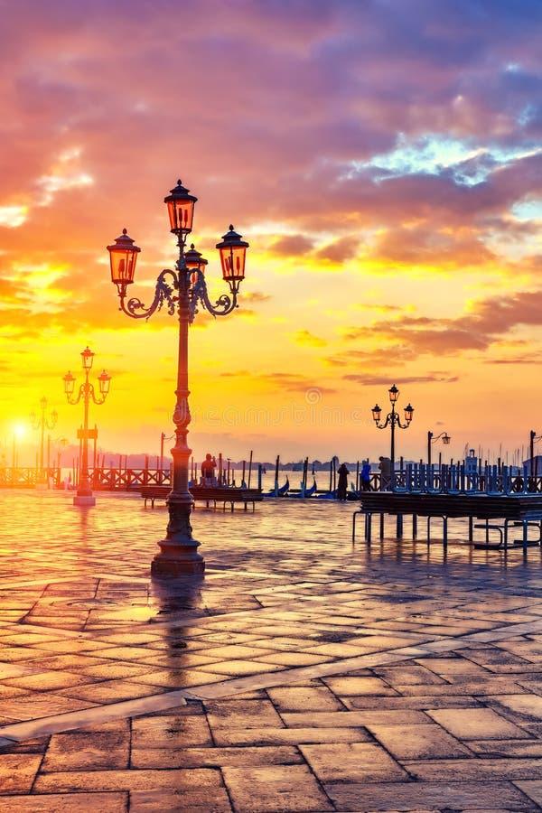 Sonnenaufgang in Venedig lizenzfreie stockfotos