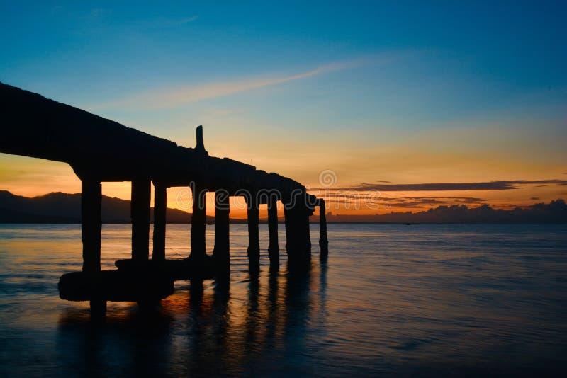 Sonnenaufgang von Java lizenzfreies stockfoto