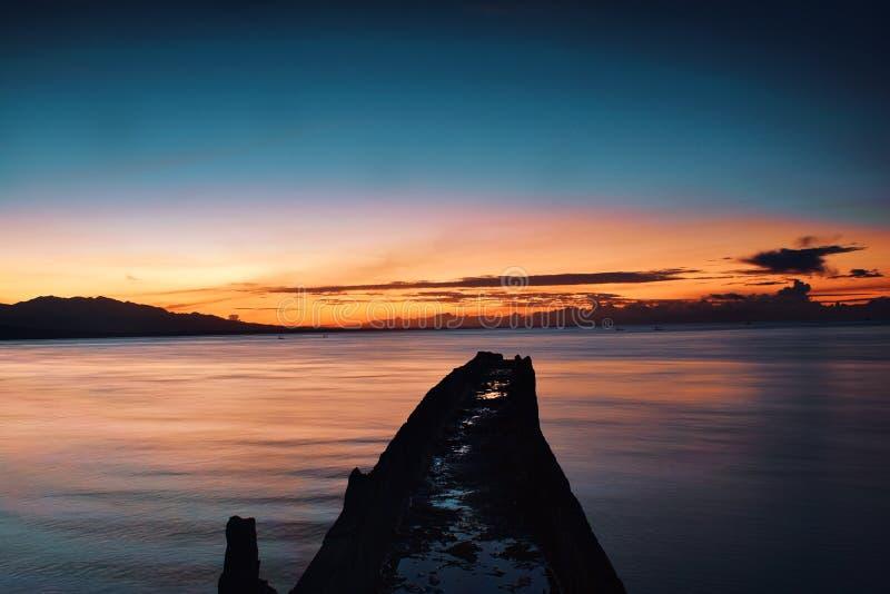 Sonnenaufgang von Java lizenzfreie stockbilder