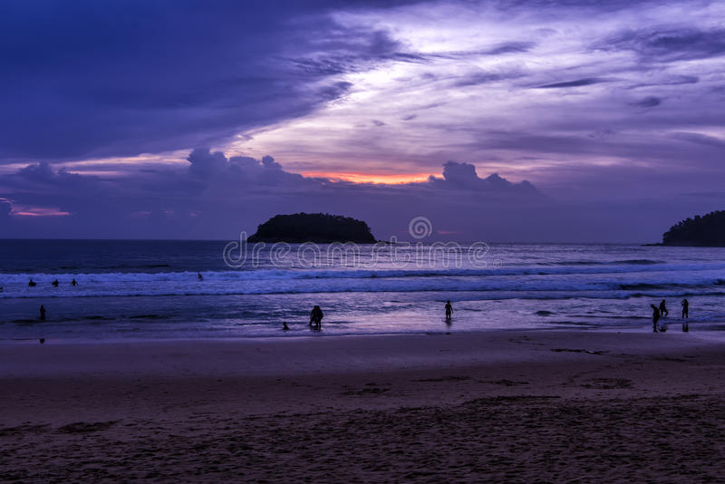 Sonnenaufgang von Phuket lizenzfreies stockfoto